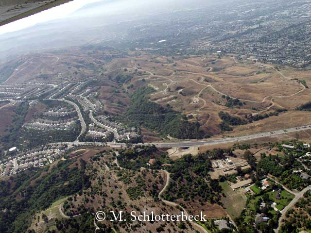 Puente Hills Passage in Los Angeles Area.